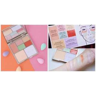 原價888 ‼️韓國完美七色遮瑕修容盤全新便宜賣‼️只有2盒