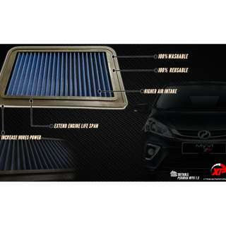 AIR FILTER DROP IN PANEL JDM MYVI VIVA 1.0 BLUE ALZA MYVI KANCIL GEN2 WIRA WAJA SAGA SATRIA