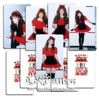 RED VELVET THE RED UNOFFICIAL PHOTOCARDS (D VER.)