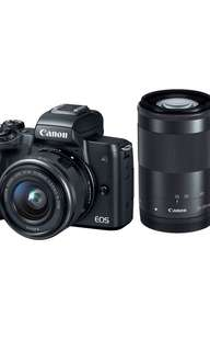 Canon M50 twin kit 15-45mm/55-200mm