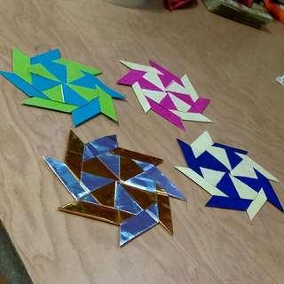 Origami Shape Shifting Shurikens