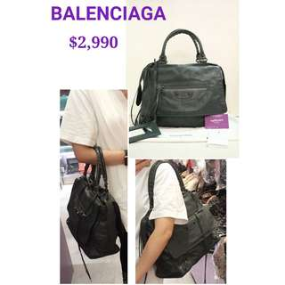 90% New BALENCIAGA 259420 Grey Butterfuy 炭灰色 肩背袋 手袋 Handbag in Antracite