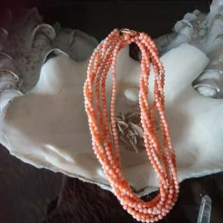 25 inch Natural Coral Necklace