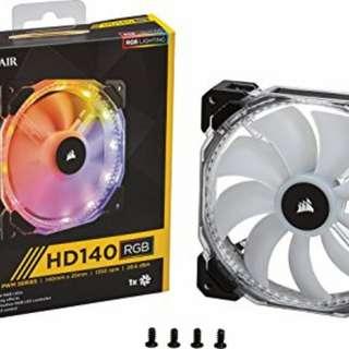corsair RGB風扇HD120mmX3 HD140mmX1