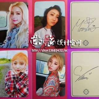 MAMAMOO UNOFFICIAL PHOTOCARDS