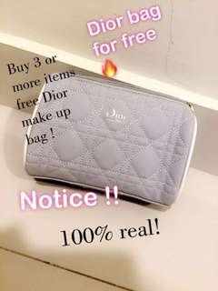 DIOR MAKE UP BAG FOR FREE