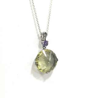 Genuine Lemon Quartz pendant