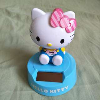 Kitty 太陽能 搖頭 桌飾 療愈小物