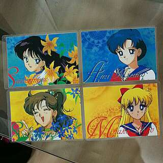 Laminated sailormoon card collection set