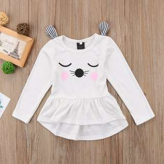 🦁instock - 3D cat dress, baby infant toddler girl children sweet kid happy abcdefgh hello there