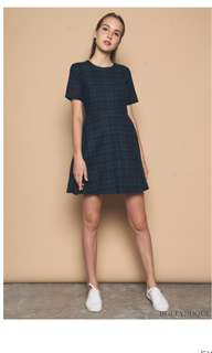 Hollyhoque Zoeva Plaid Skater Dress