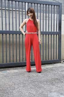Freeway Red Jumpsuit