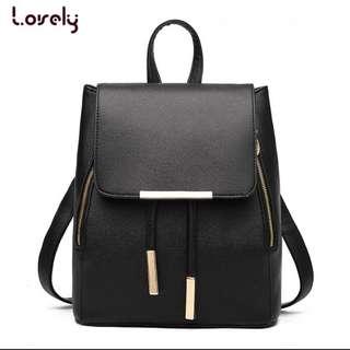 [PO] Korea PU Leather Backpack