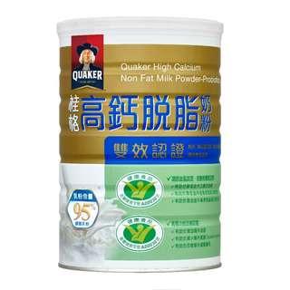 好市多桂格雙認證高鈣脫脂奶粉