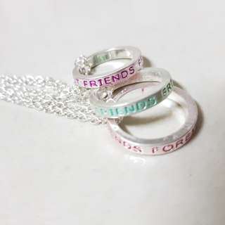 BFF Ring Necklaces Set