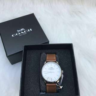 Readystock. Authentic Coach Ruby Watch in Dark Saddle