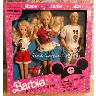 Mattel 1991年 限量 Disney Barbie and Friends Ken 迪士尼 古董 芭比娃娃 肯尼