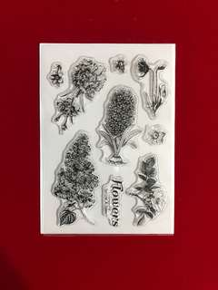 Flowers #13 scrapbooking Clear Stamp