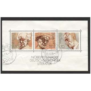 GERMANY 1978 GERMAN WINNERS OF NOBLE LITERATURE PRIZE MINIATURE SHEET OF 1 STAMP SC#1267 IN FINE USED CONDITION