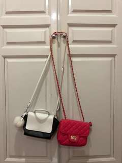 Sling white pink bag