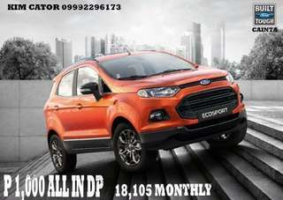 Ford Ecosport 1K All in Downpayment