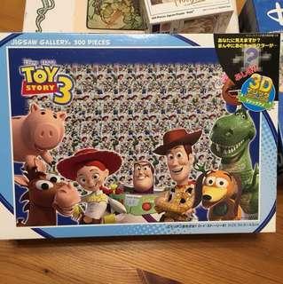 【絕版拼圖】日本Tenyo 玩具總動員 Toy 3D 拼圖 300片