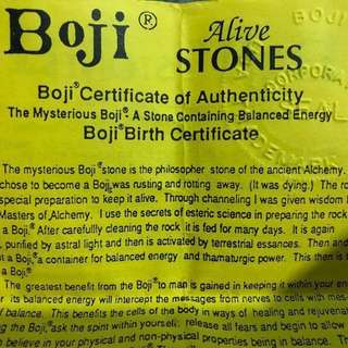 Boji Stone ( Super rare twin ) with certificate of authenticity