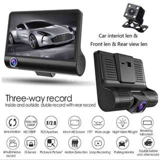 🎉Promotion🎉3 Ways Car Camera (front/inside/rear)