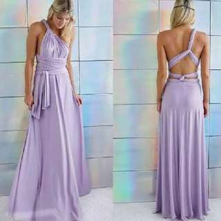Lavender Infinity Dress..