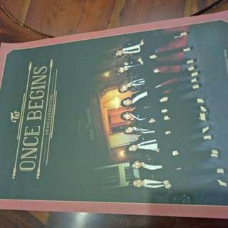 Ready stock twice poster once begins