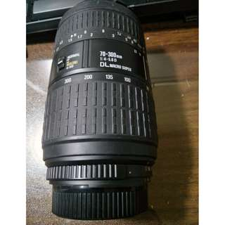 SIGMA 70-300mm F4-5.6 DL Super Macro /For Nikon..壓低價出清2800