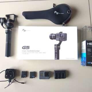 GoPro Hero 5 black + Feiyu G5 gimball