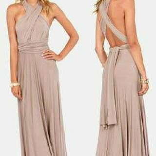 Nude Brown Infinity Dress