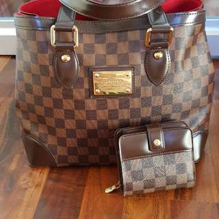 Authentic LV hampstead pm and compact zippy wallet set