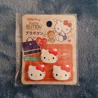 Hello Kitty plastic botton