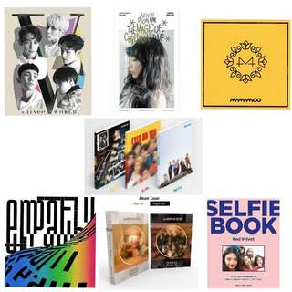 [PRE ORDER] SHINee/Taeyeon/Wanna One/GOT7/NCT/Red Velvet/Mamamoo Albums & DVDs Pre Order!