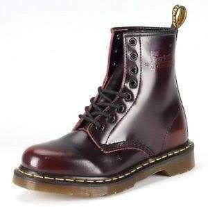 Dr Martens 1460 Arcadia 8 Eyelet Boot in Dark Cherry Red