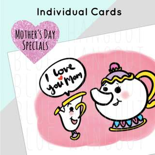 Mother's Day Card (Hand Drawn) - 3 designs to choose from!