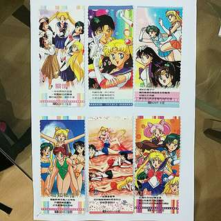 Sailormoon vintage book marks (set of 6) bulk buy