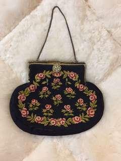Vintage - 1900s tapestry bag