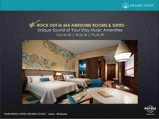 2D1N hotel stay at Hardrock Hotel Desaru coast