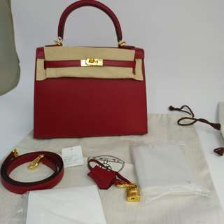 Hermes kelly 25 epsom x stamp