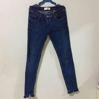 Mango fringe jeans [LOW WAIST]