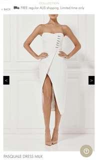 Misha Collection Pasquale dress (milk) RENT