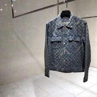 Supreme x LV Monogram Denim Jacket