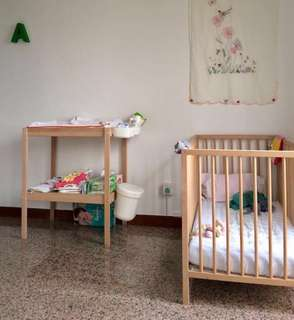 Baby Cot + Changing table
