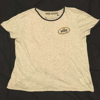 Vans T-shirt Logo T 灰色短袖 #我的女裝可超取