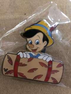 香港 迪士尼 徽章 Disney Pin Game PIn 毛毯 小木偶