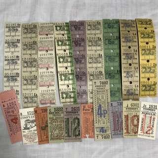 Ephemera Pack #4 - Vintage Bus Tickets