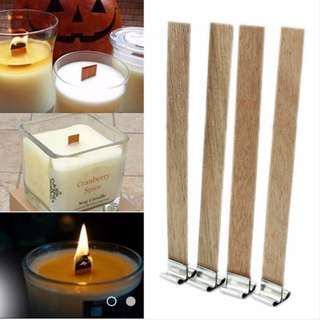 Wooden Candle Wick Core Supplies with Sustainer